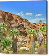 Indian Canyons View In Palm Springs Canvas Print