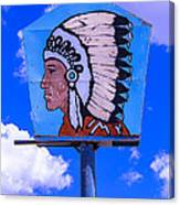 Indian Chief Sign Canvas Print