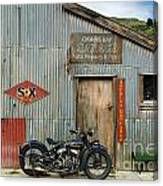 Indian Chout At The Old Okains Bay Garage 1 Canvas Print