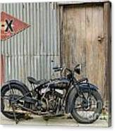 Indian Chout At The Old Okains Bay Garage 2 Canvas Print