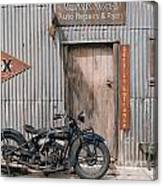 Indian Chout At The Old Okains Bay Garage 3 Canvas Print