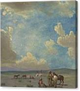 Indian Encampment Canvas Print