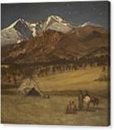 Indian Encampment - Evening Canvas Print