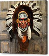 Indian Headdress In  Brown Canvas Print