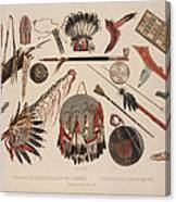 Indian Implements And Arms Canvas Print
