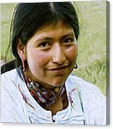 Indian Maid Canvas Print