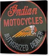 Indian Motocycle Dealer Canvas Print