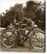 Indian Camelback Motorcycle Circa 1908 Canvas Print