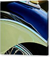 Indian Motorcycle Fender Emblem Canvas Print