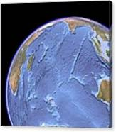 Indian Ocean, Sea Floor Topography Canvas Print