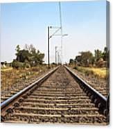 Indian Railroad Cables Canvas Print