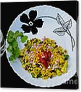 Indian Snacks - Poha Canvas Print