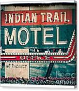 Indian Trail Motel Canvas Print