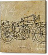Indian V-twin 1914 Canvas Print