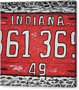Indiana 1949 License Platee Canvas Print