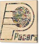 Indiana Pacers Poster Art Canvas Print