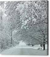 Indiana Snow Canvas Print