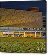 Indiana State Museum Night Delta Canvas Print