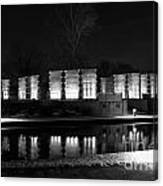 Indiana War Memorial On The Canal Canvas Print