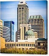 Indianapolis Cityscape Downtown City Buildings Canvas Print