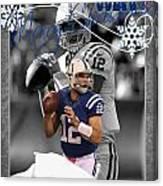 Indianapolis Colts Christmas Card Canvas Print