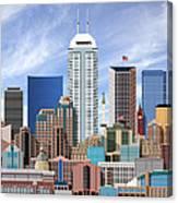 Indianapolis Indiana Skyline Canvas Print