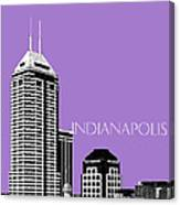 Indianapolis Indiana Skyline - Violet Canvas Print