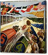 Indianapolis Motor Speedway - Vintage Lithograph Canvas Print