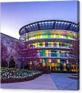 Indianapolis Museum Of Art Blue Hour Lights Canvas Print
