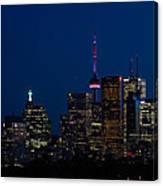 Indigo Sky And Toronto Skyline Canvas Print
