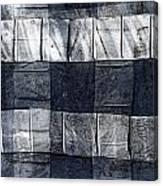 Indigo Squares 1 Of 5 Canvas Print