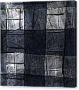 Indigo Squares 4 Of 5 Canvas Print