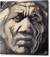 Indio Indian Black And White Oil Painting Canvas Print