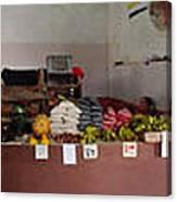 Indoor Market Canvas Print