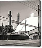 Industrial Art 2 Sepia Canvas Print