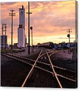 Industrial Rail Yard Canvas Print