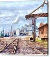 Industrial Railroad Scene  Canvas Print