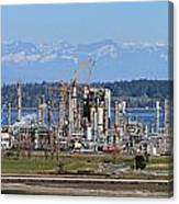 Industrial Refinery Canvas Print