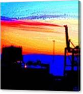 admire an Industrial sunset, because culture is also nature  Canvas Print