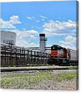 Industrial Train Canvas Print
