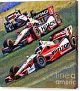 Indy Car's Penske Team Juan Montoya Helio Castroneves Will Power   Canvas Print