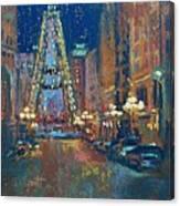 Indy Circle Christmas Canvas Print
