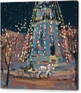Indy Monument Lights Canvas Print