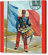Infantry Of The Line Drummer With Fgb Border Canvas Print