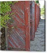 Infinite Red Doors Canvas Print