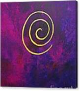 Infinity - Deep Purple With Gold Canvas Print