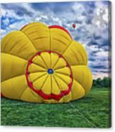 Inflating The Hot Air Balloon Canvas Print