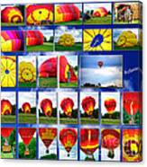 Inflation Hot Air Balloon Canvas Print