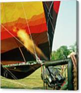 Inflation Of A Hot Air Balloon Canvas Print