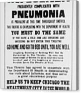 Influenza Poster Canvas Print
